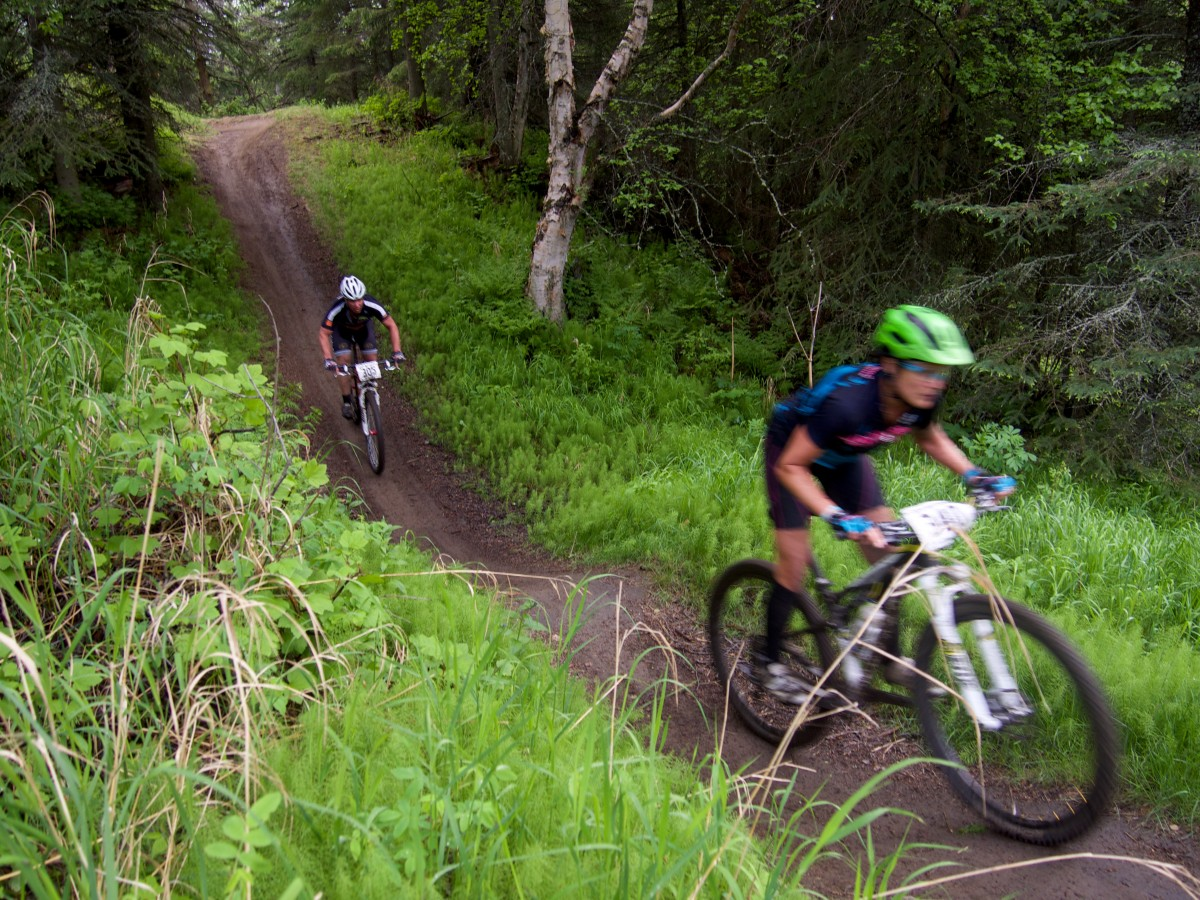 Two riders duking it out in Kincaid