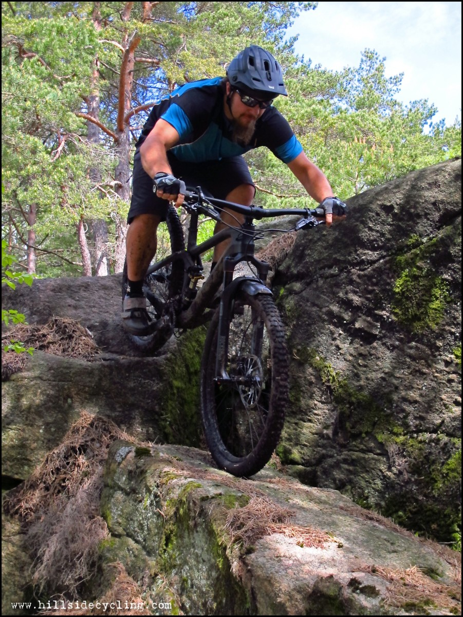 I didn't take it easy on this bike: I thrashed it through the gnarliest obstacles I could find. Photo: Leo Ranta.