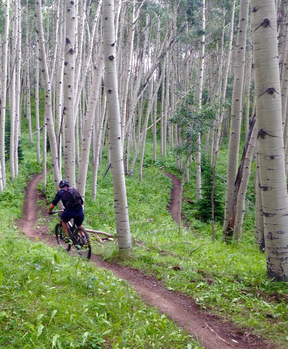 Doing what he loved: riding sweet singletrack.