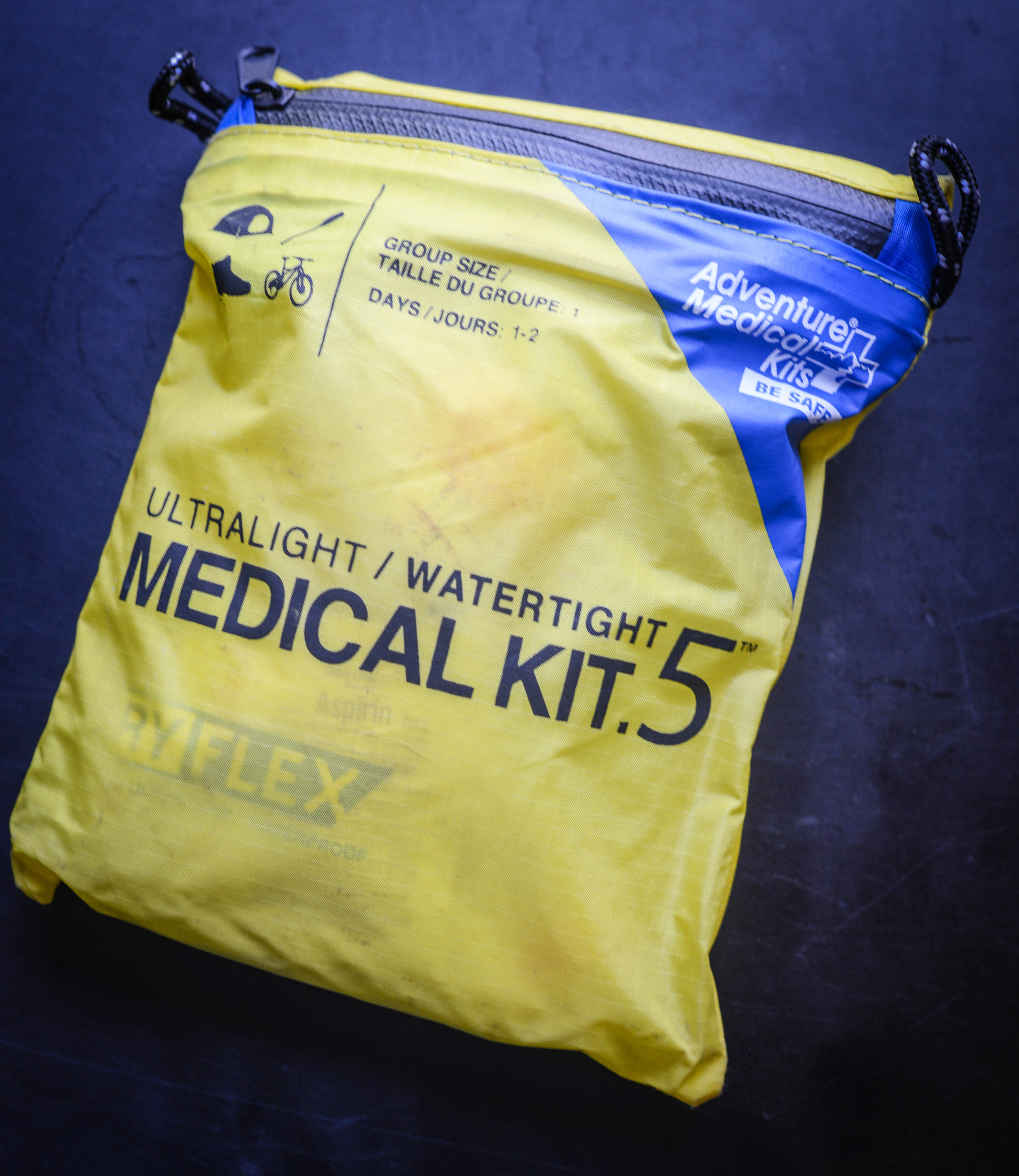 Medical Kit 5, which can be purchased for about $15, is very light, compact, and has most of what you need for routine medical issues on/off the trail