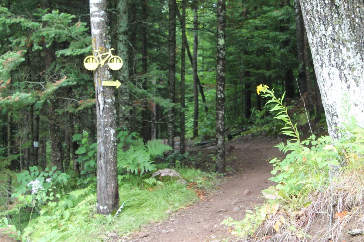 The start of Wisconsin's delightful WinMan trail