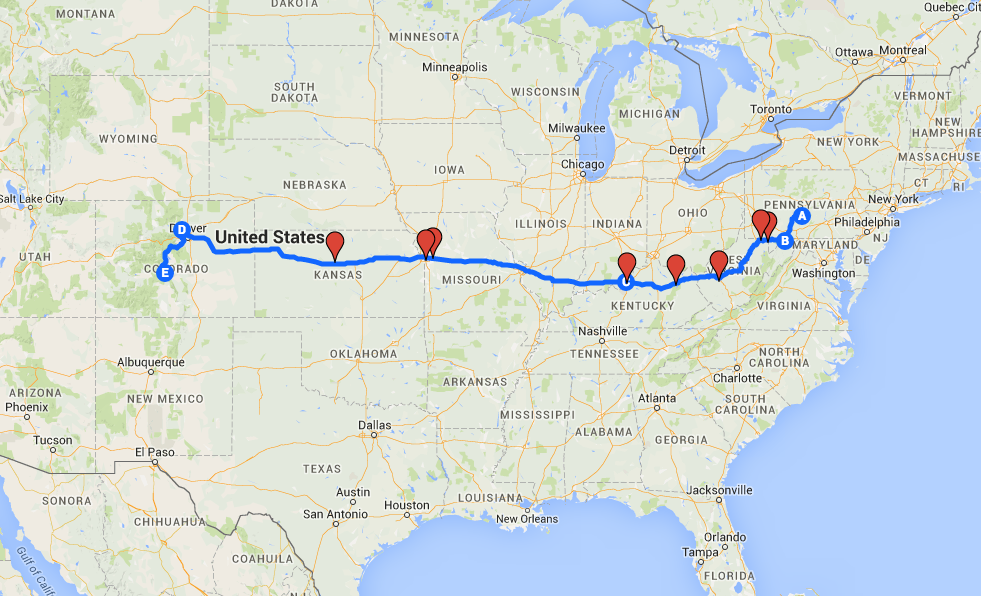 My planned route.
