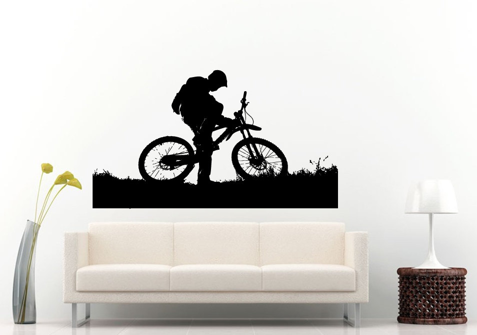 MTB decal  sc 1 st  Singletracks.com : bicycle wall decal - www.pureclipart.com