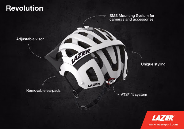 Revolution Full Face Helmet From Lazer Features Removable