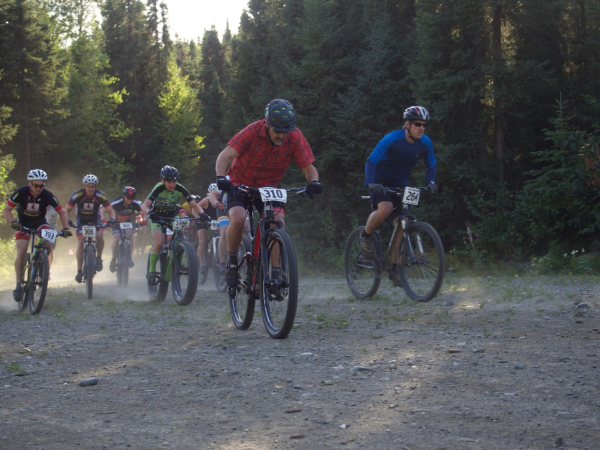 A loose, dusty, and fast ascent up the Hillside Trails of Anchorage