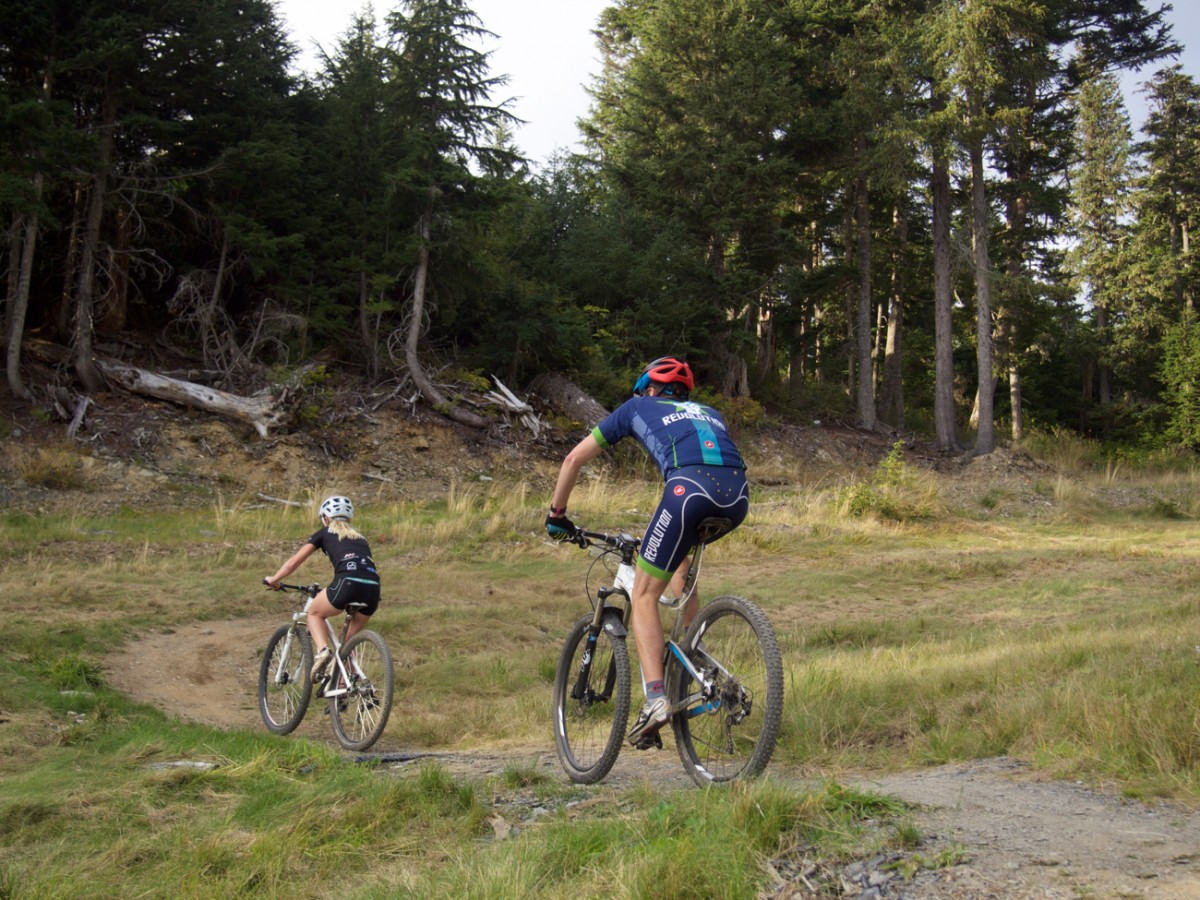 Apparently these guys missed the memo that Alyeska trails are used for downhill races...