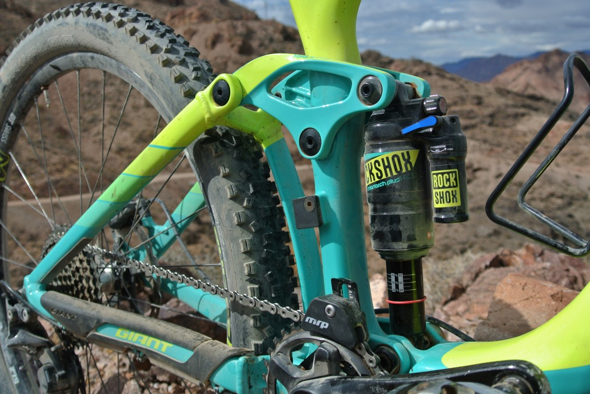 RockShox Monarch Plus and room for a water bottle!