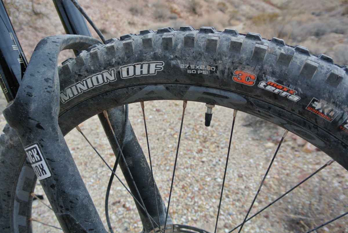 30mm wide Easton rims, and the legendary Minion DHF