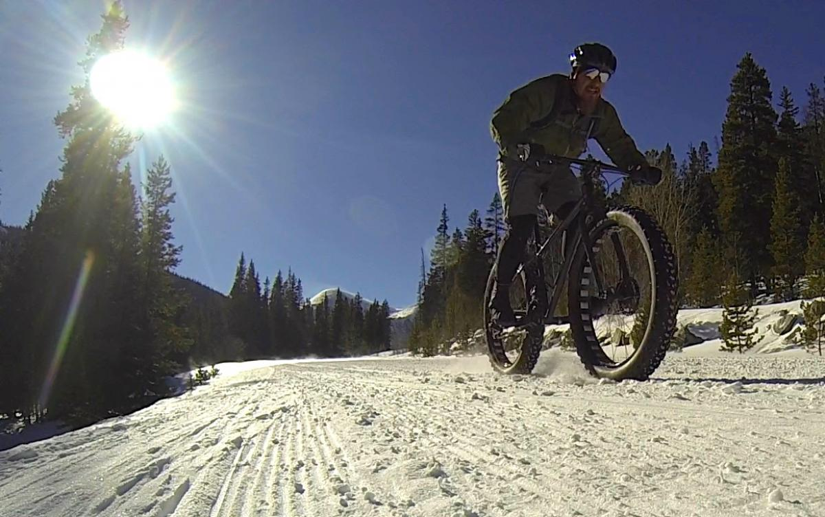 Fat biking is a FUN time when your bike fits well! Rider/photo: Greg Heil