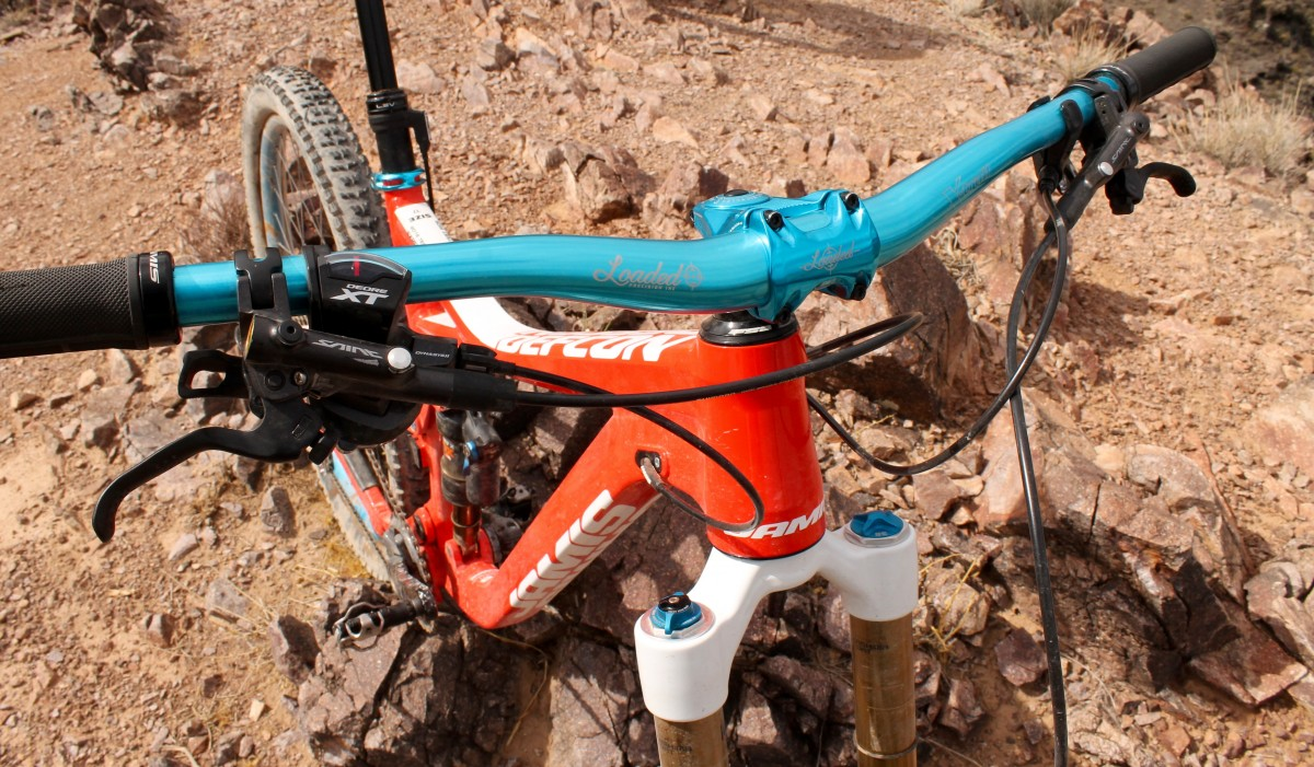 Putting Loaded Precision on your bike=instant bling factor