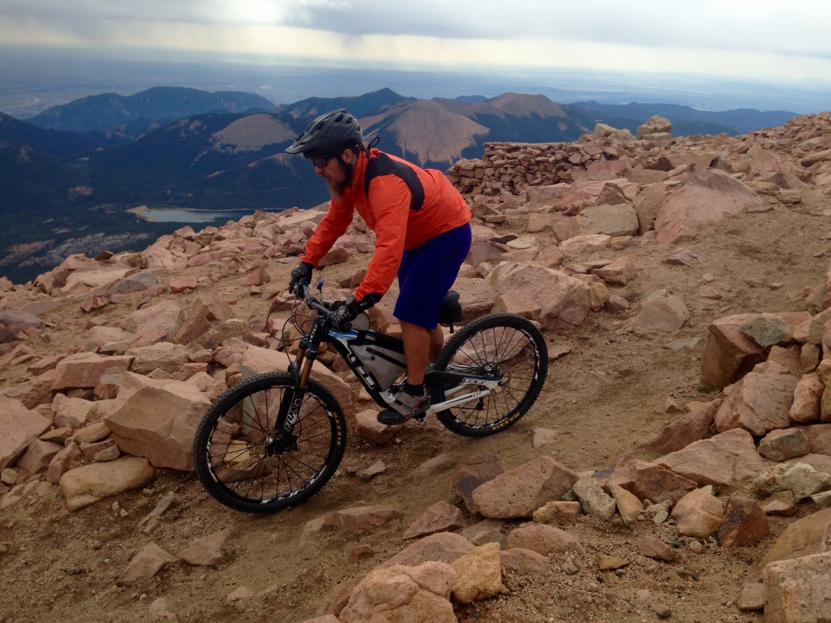 Riding Pikes Peak--no backpack required!