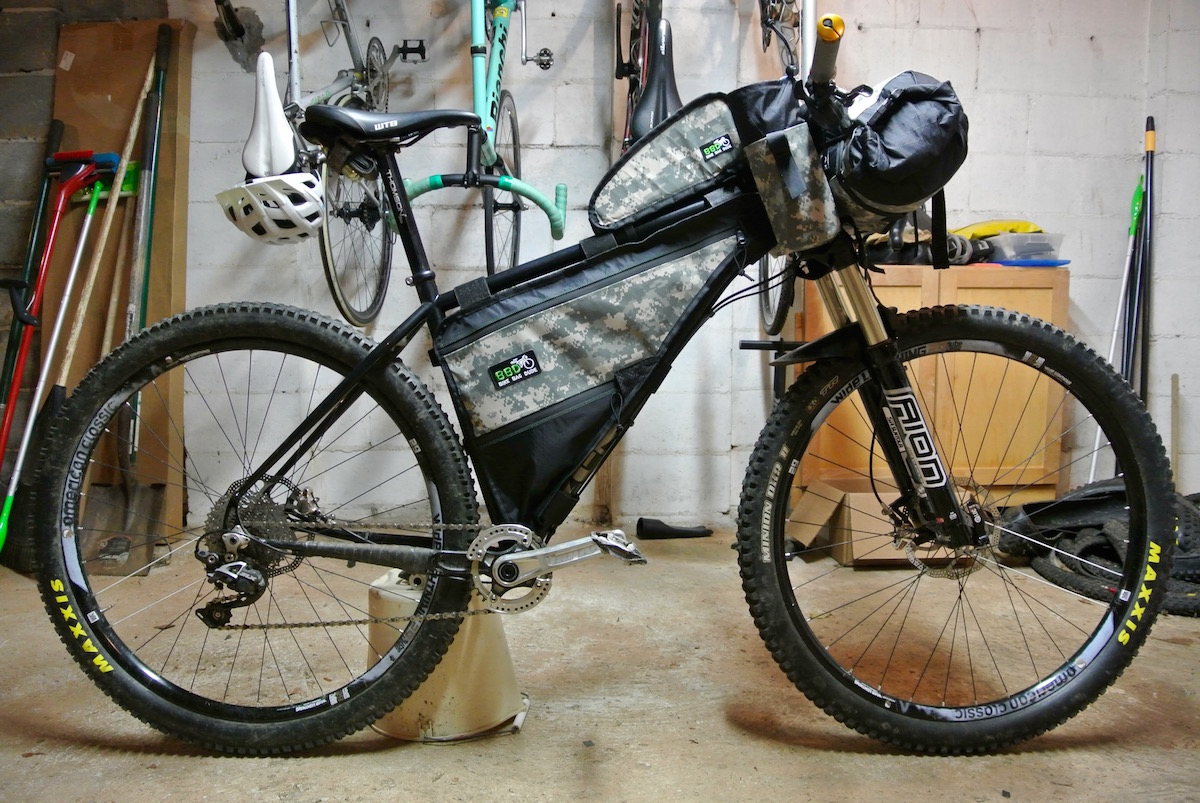 The Zen TRAIL is ready for some backwoods, overnight adventures thanks to the Bike Bag Dude.