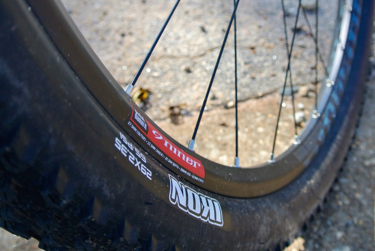 Niner specs their own brand of wheels to help keep costs in check