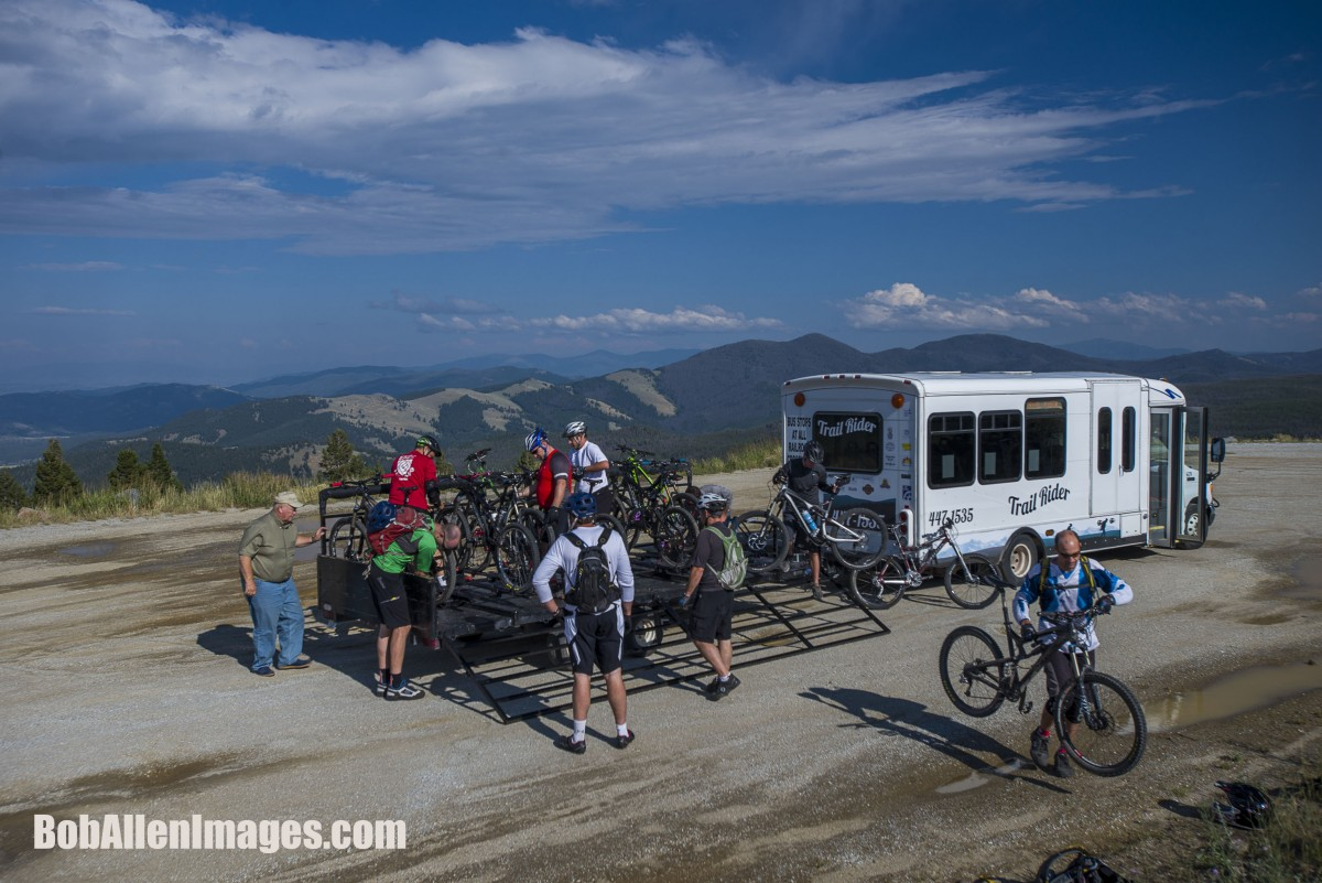 Trail Rider drop off at MacDonald Pass. Photo: BobAllenImages.com