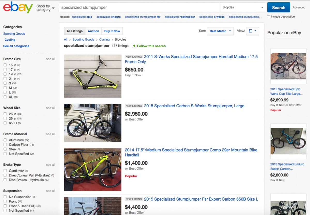 Ebay can be a great place to get a good deal, but you have to be judicious about what you buy.