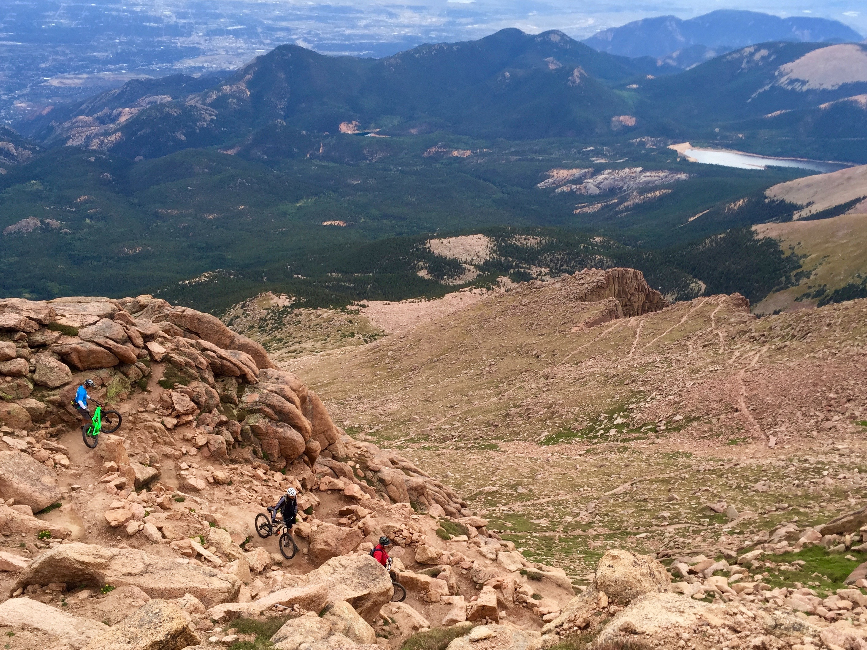 shuttling pikes peak: descending an iconic colorado 14er on mountain