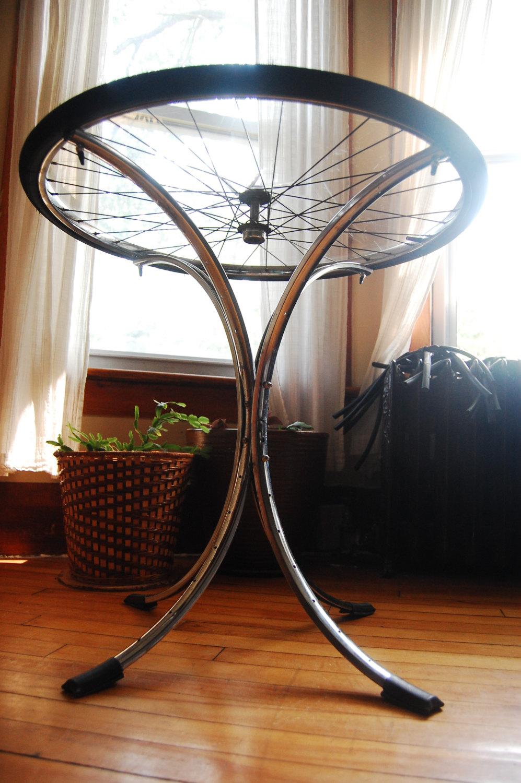 Awesome Bike Wheel Table