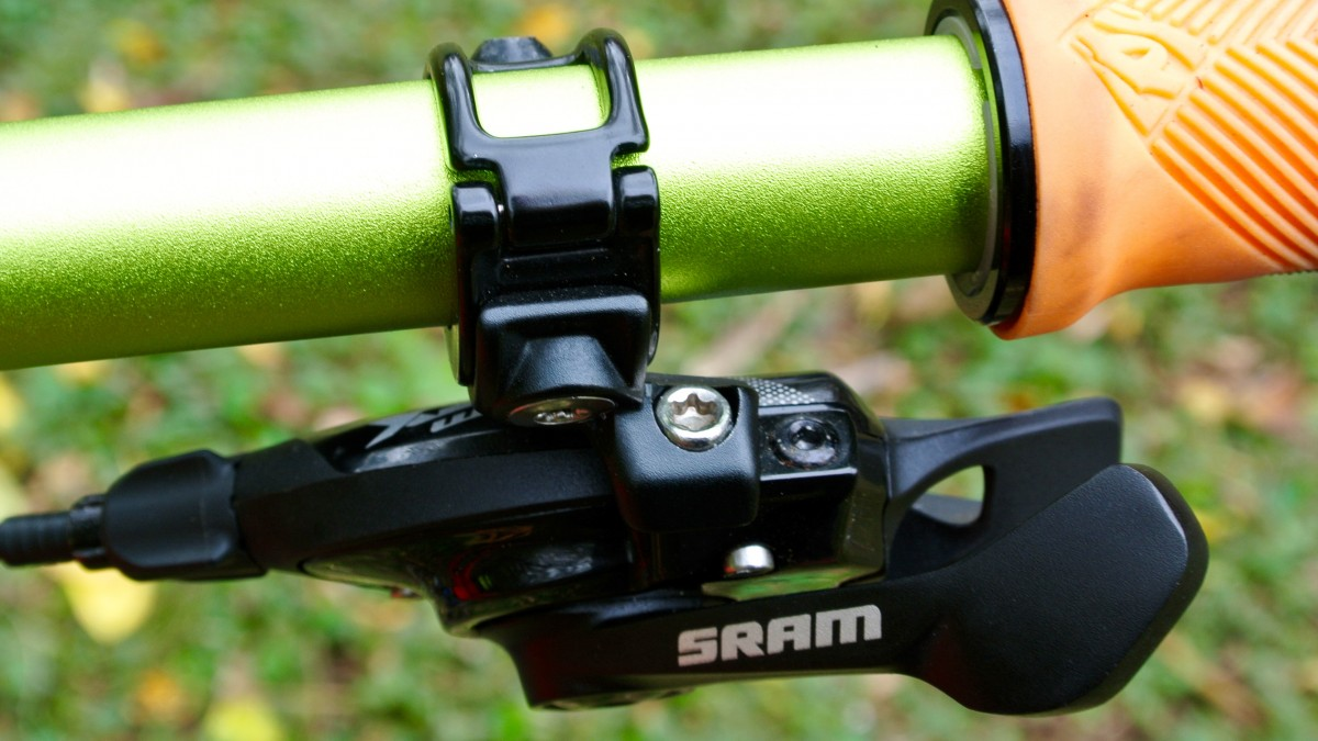 Thumb - thumb shifting, like SRAM's other MTB groups