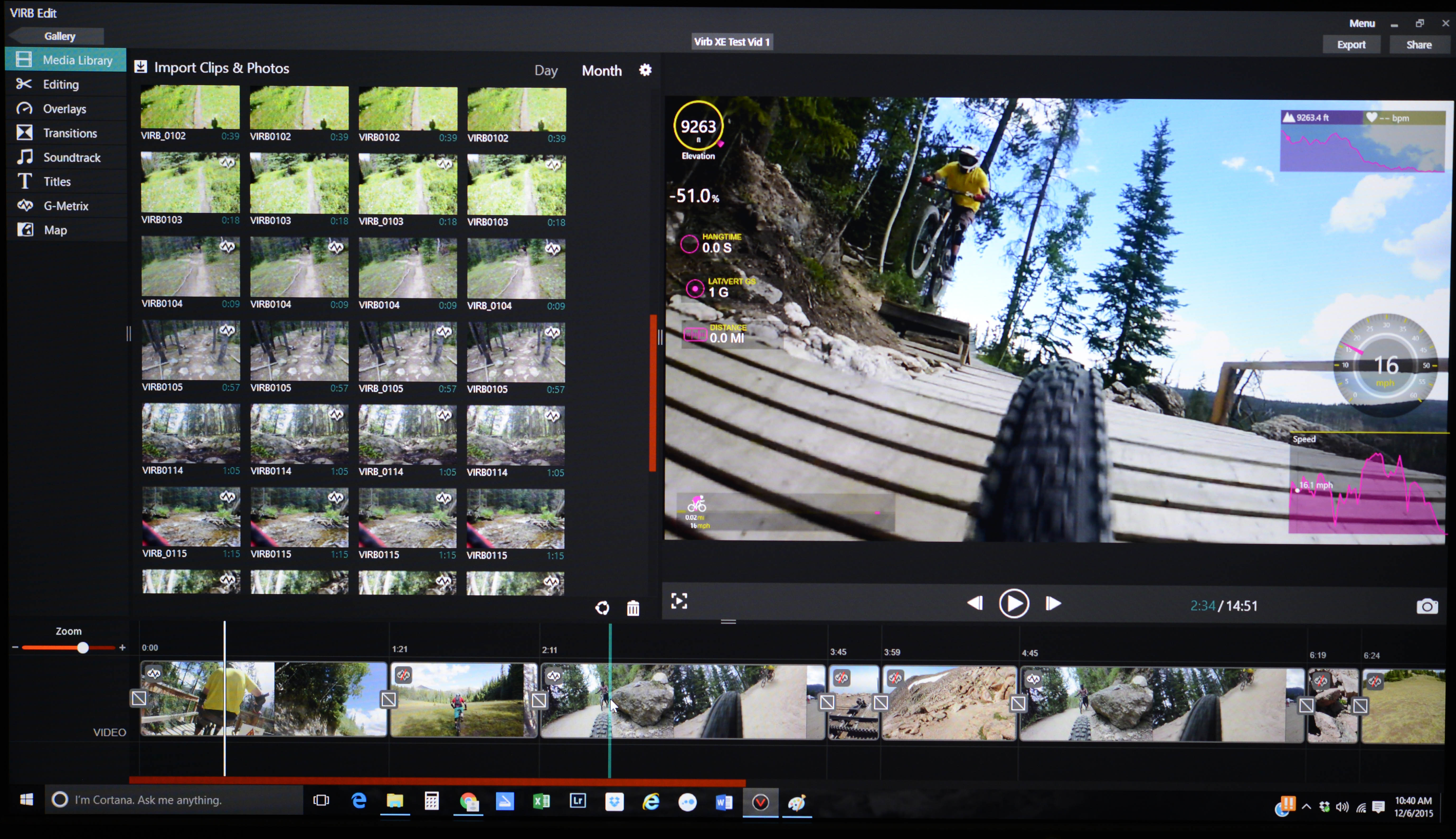 Virb Editing software is basic but with a lot of fun features. You can crank out a pretty descent video in minutes.