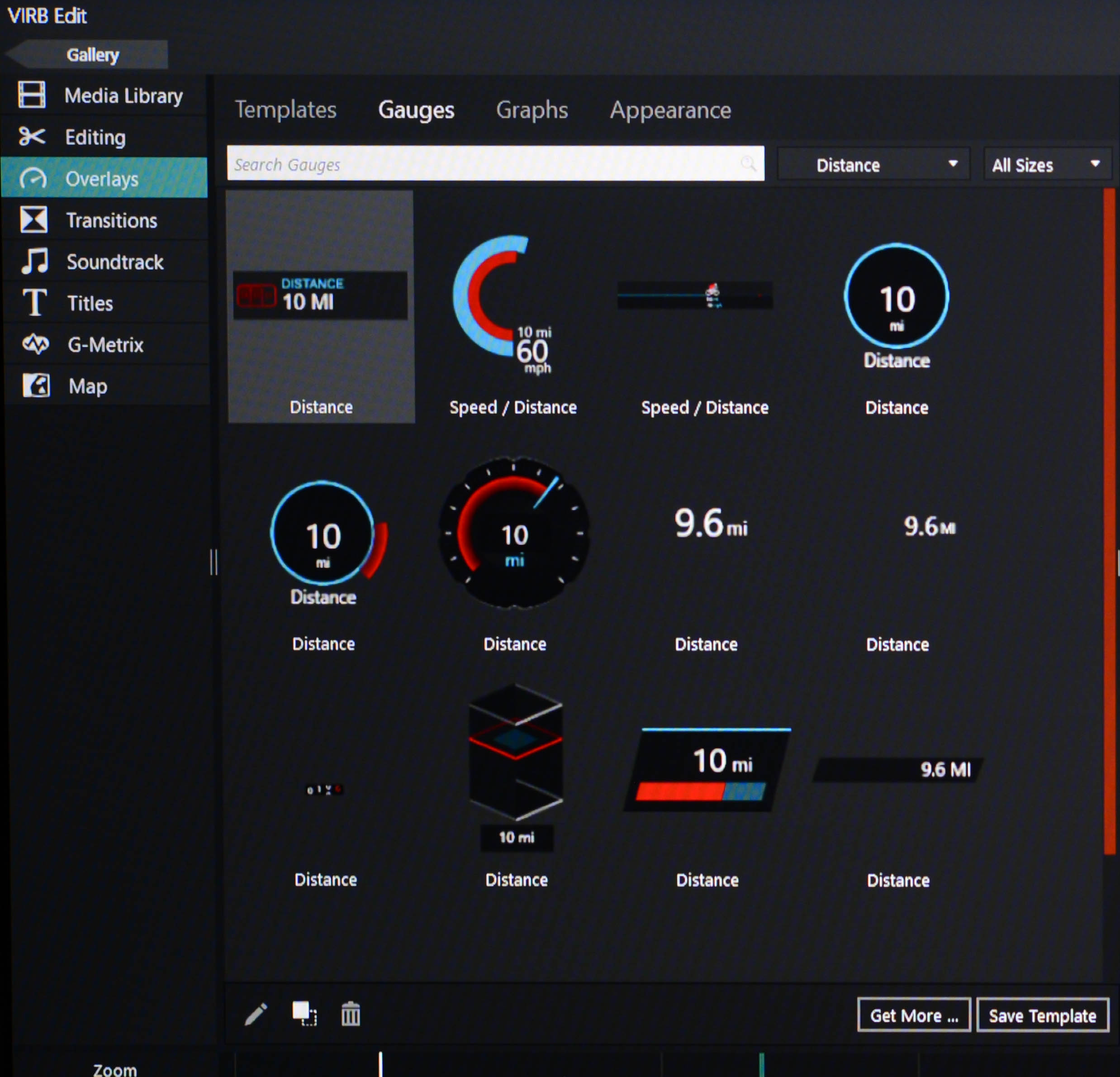 There are tons and tons of gauges, graphs, and overlays to customize your data presentation on the screen, everything from engine temp to hangtime to rotations in the air. Sweet.