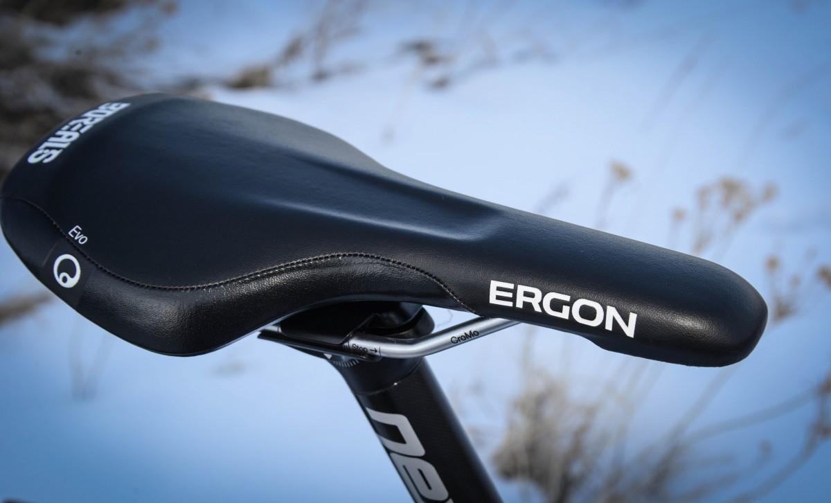 The Ergon saddle is definitely race-inspired