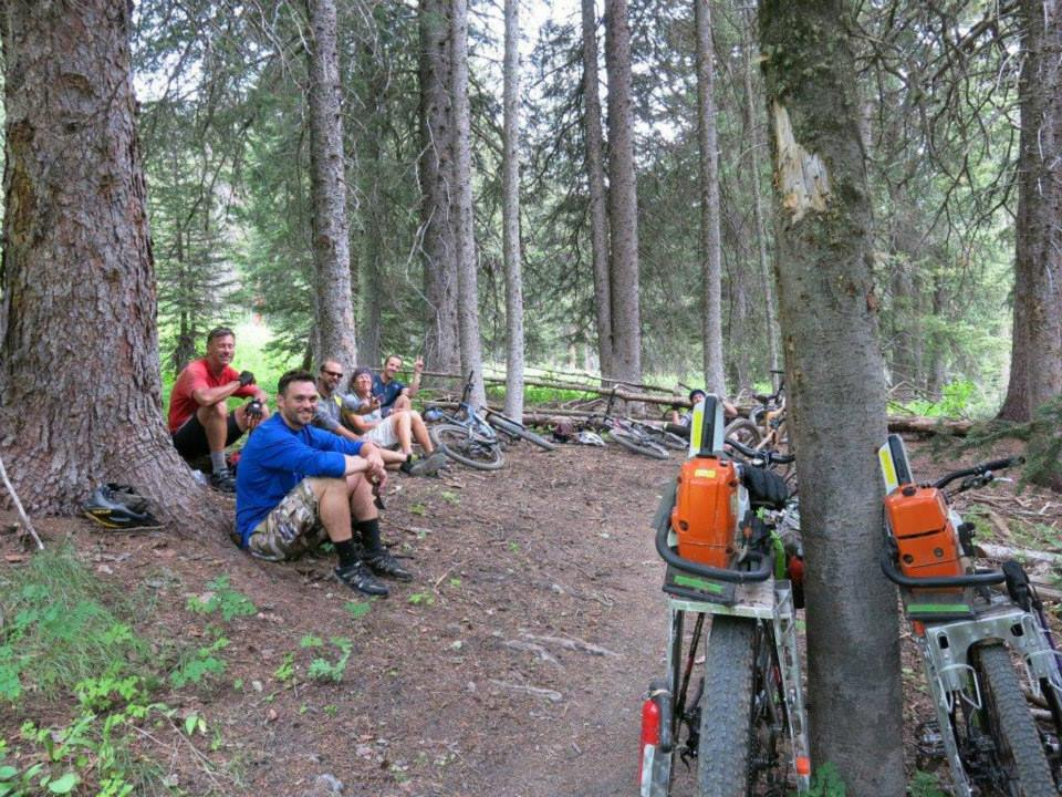 Disparate user groups can work together for the betterment of all. In Montana, the Backcountry Horsemen work with mountain bikers to maintain backcountry trails for everyone to enjoy. (photo: Montana Mountain Bike Alliance)