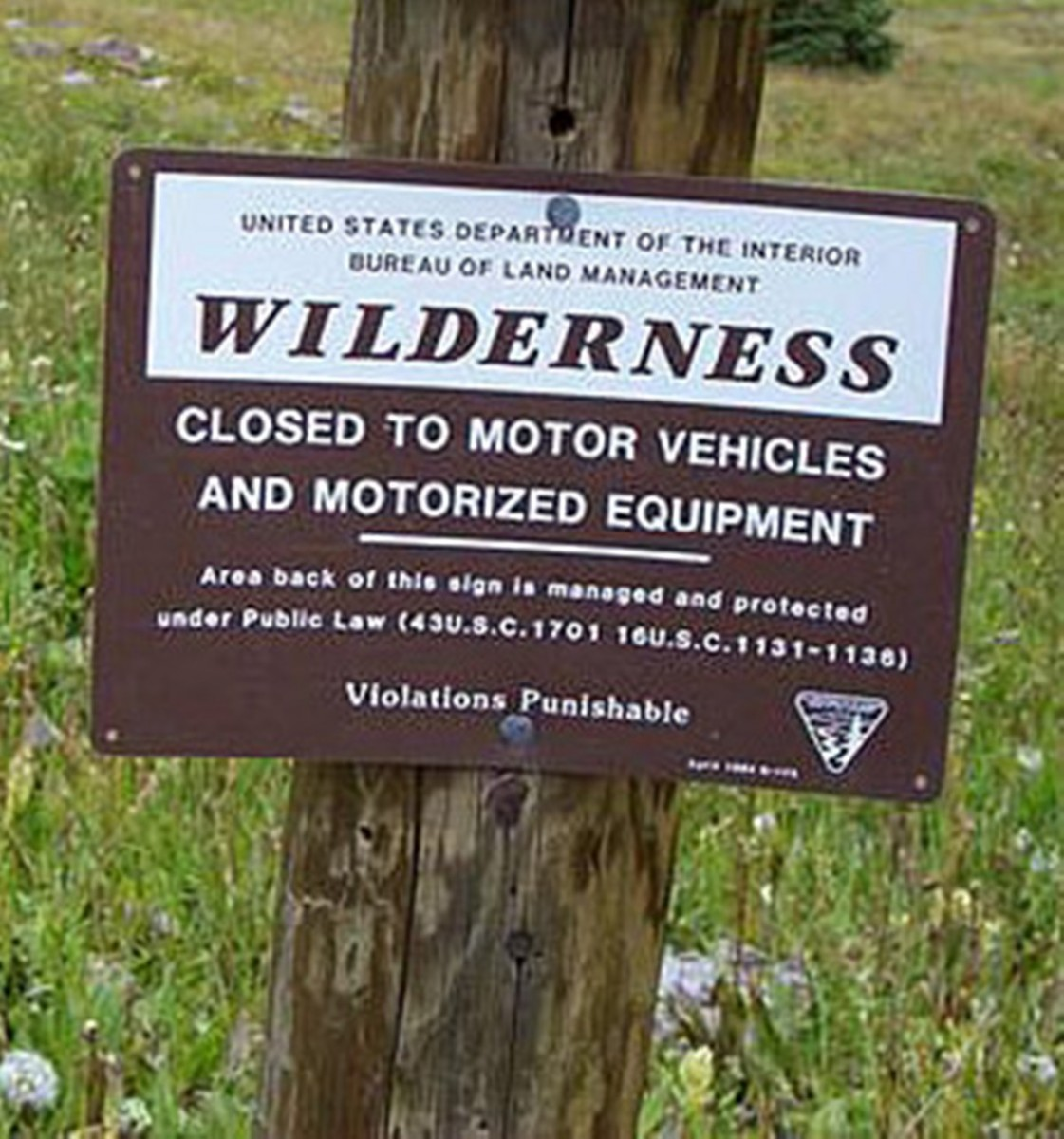 The BLM understood the real intent of Wilderness here and specifically signed to restrict motorized vehicles.
