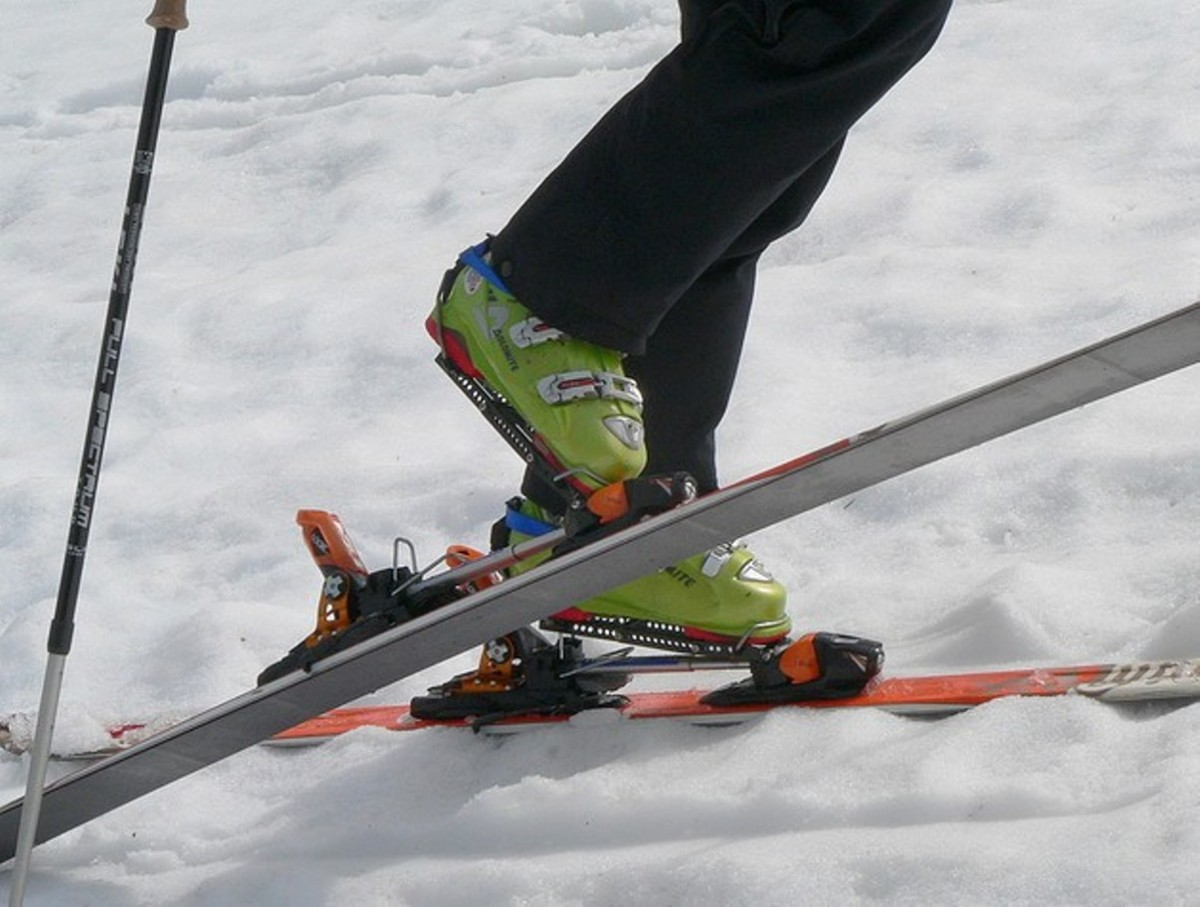 Cross country ski bindings are mechanical devices which impart a significant mechanical advantage to their user. They are also allowed in Wilderness areas (photo: cheapadventuregoods.com)