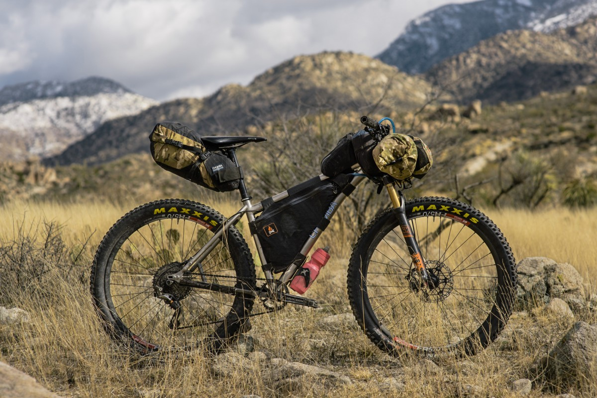 A perfectly executed bikepacking rig, fully-loaded with framebags, and designed for resiliency and reliability. ©2016 Brent Knepper, for Everything Will be Noble.