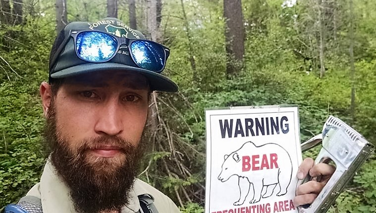 Due to some bear sightings around the area, I started putting up warning signs.