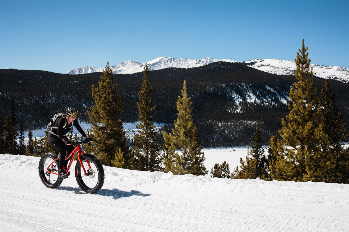 Turquoise Lake snowmobile trail, Leadville, CO