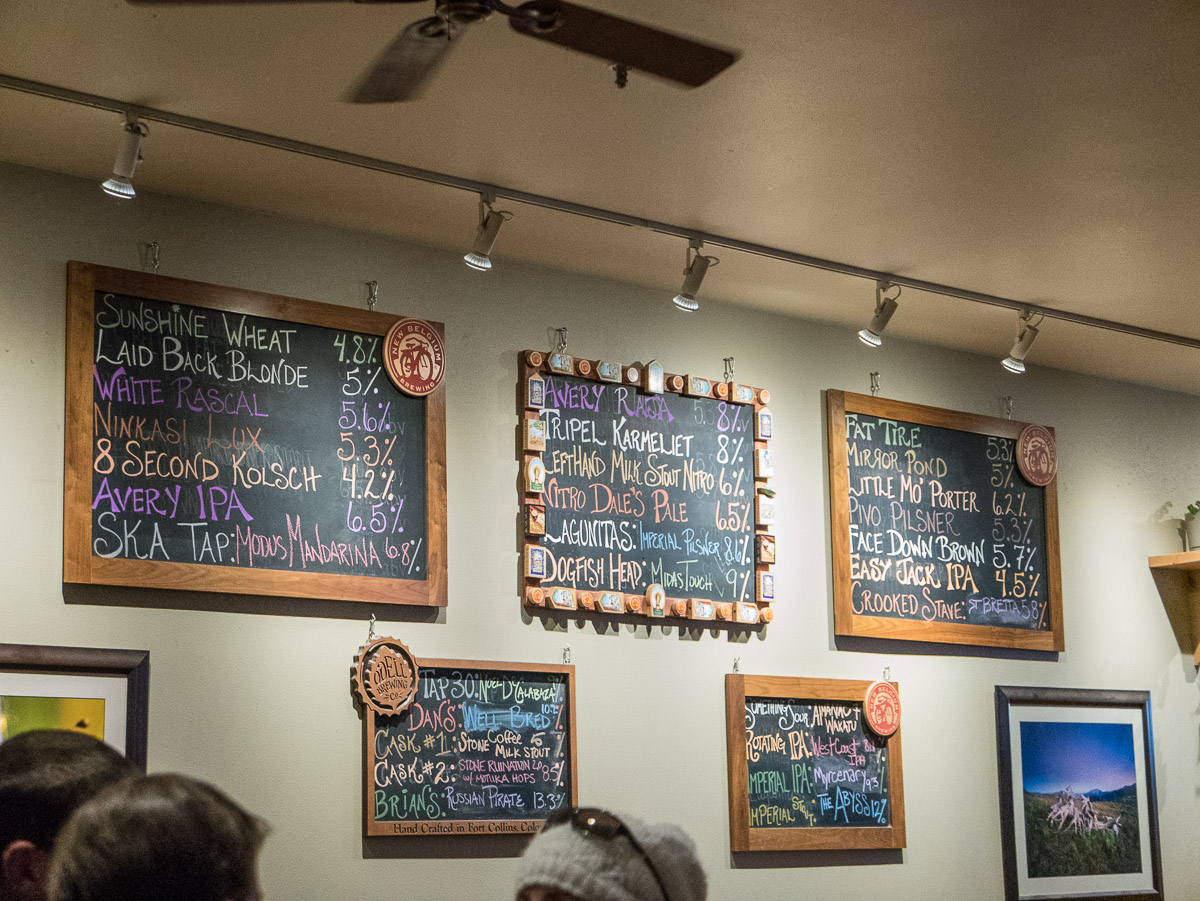 Great beer selection at the Brick Oven Pizzeria.