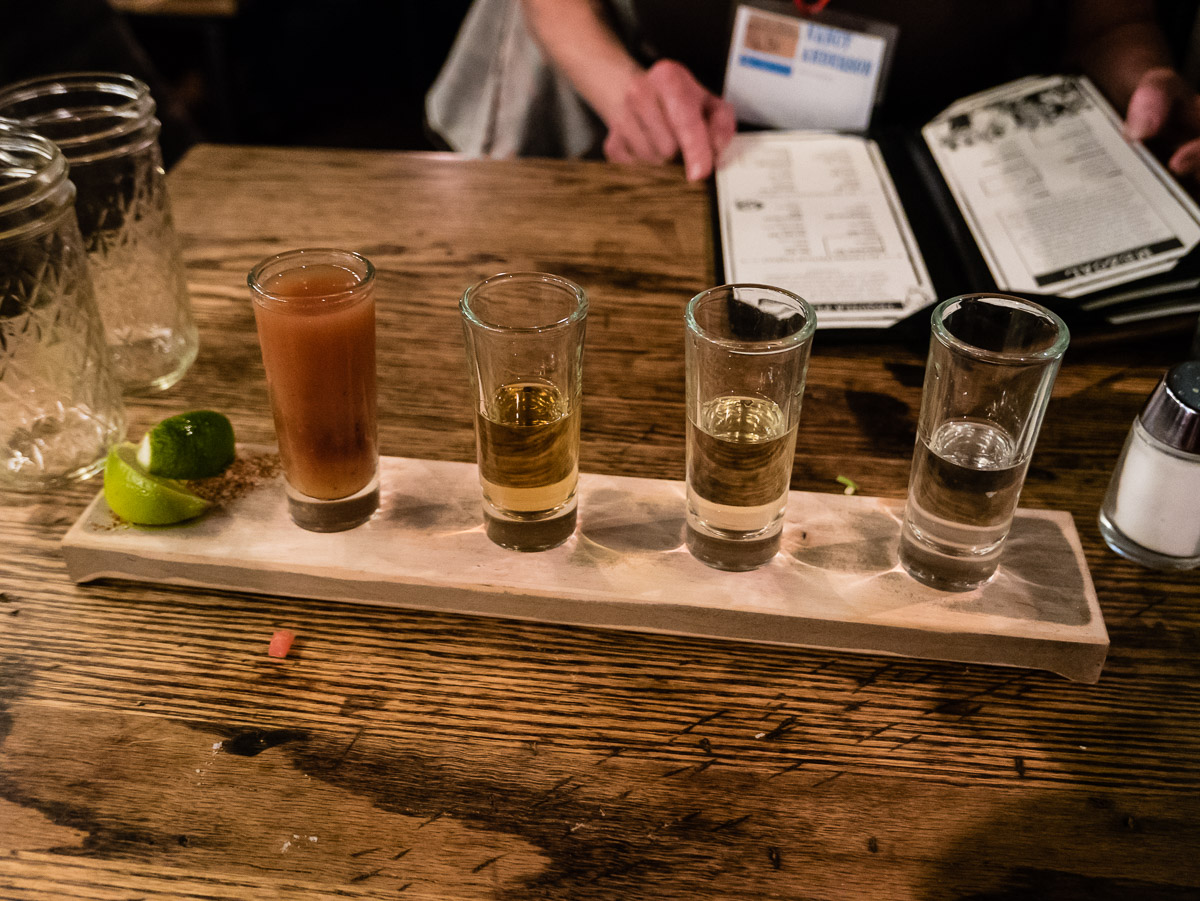 A tequila flight.