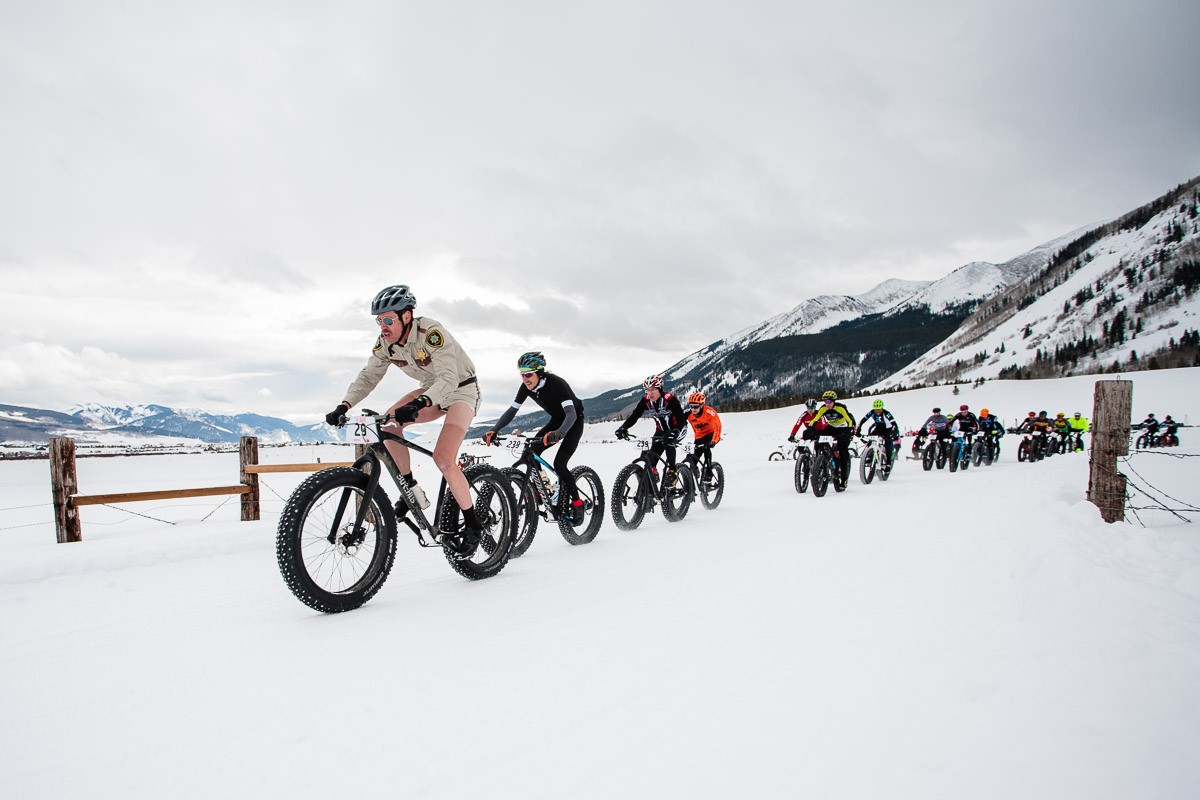 Start of the Fat Bike World Championship race in Crested Butte, Colorado. Photo: Scott Anderson
