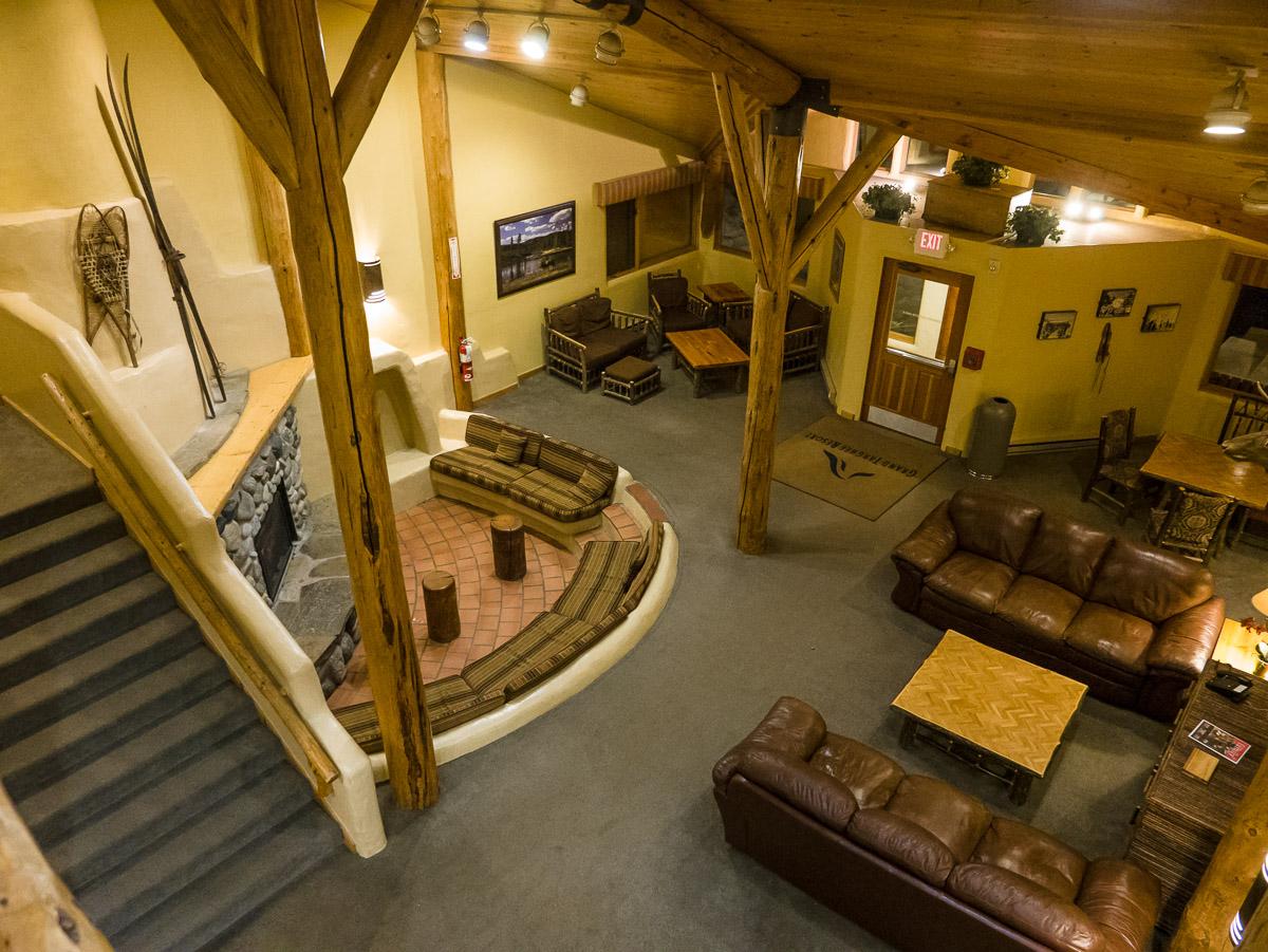 Lobby of the Teewinot Lodge