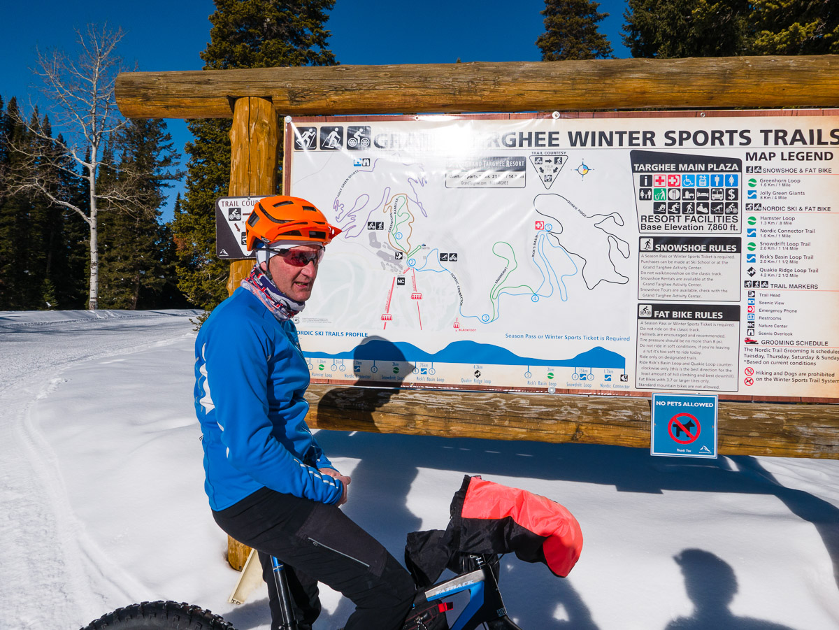 Andy Williams shows us our route