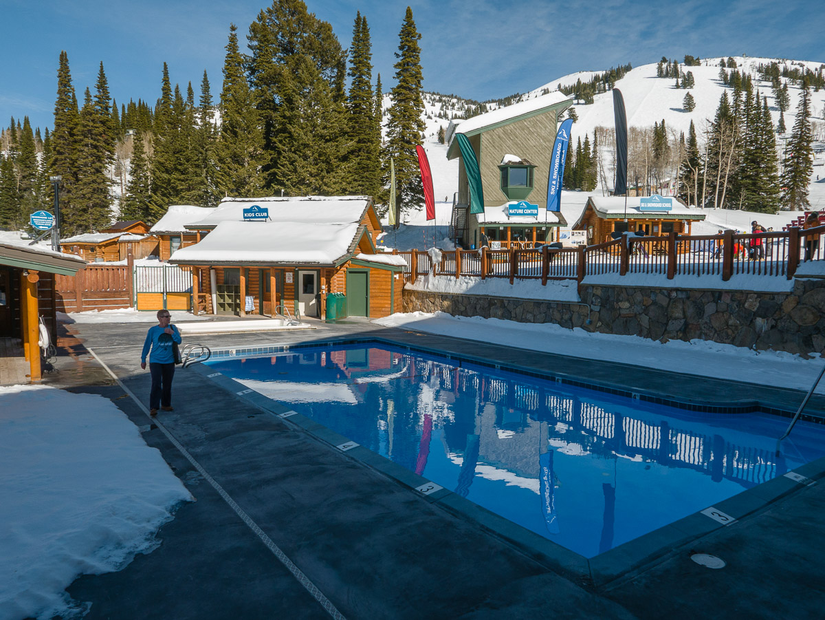 The pool and hot tub at Grand Targhee Resort