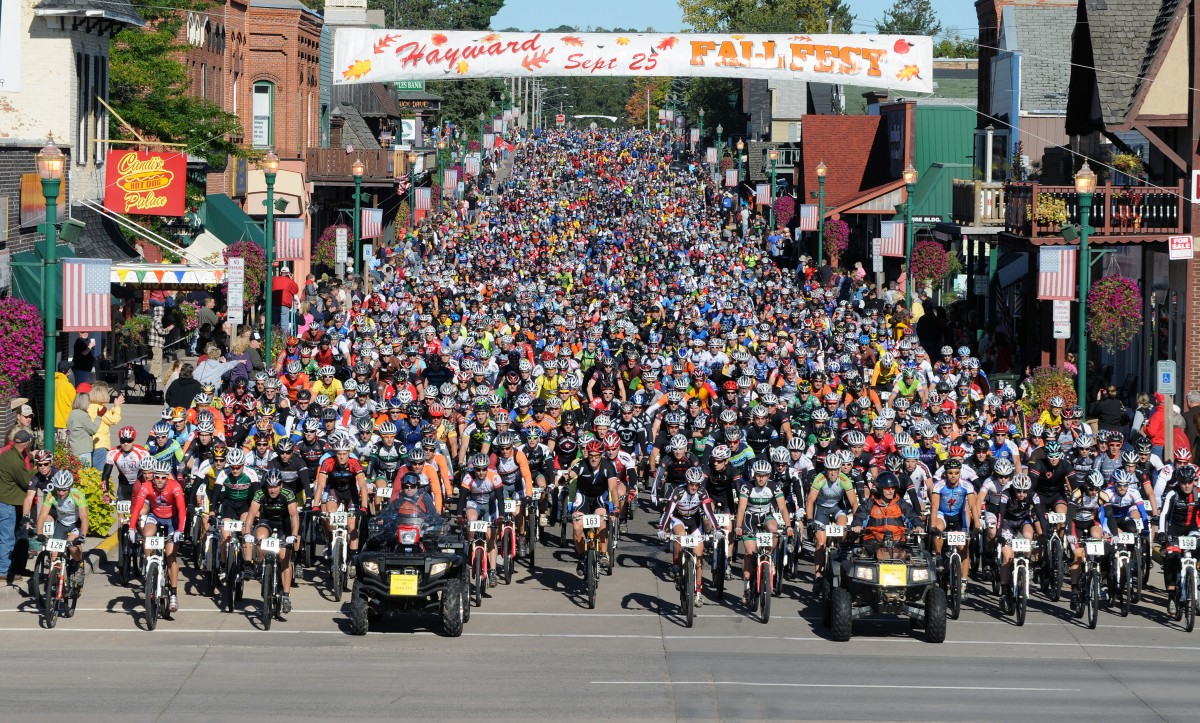 Chequamegon Fat Tire Festival from Hayward to Cable in northwestern Wisconsin. (c) 2010 Tom Kelly/Chequamegon Fat Tire Festival