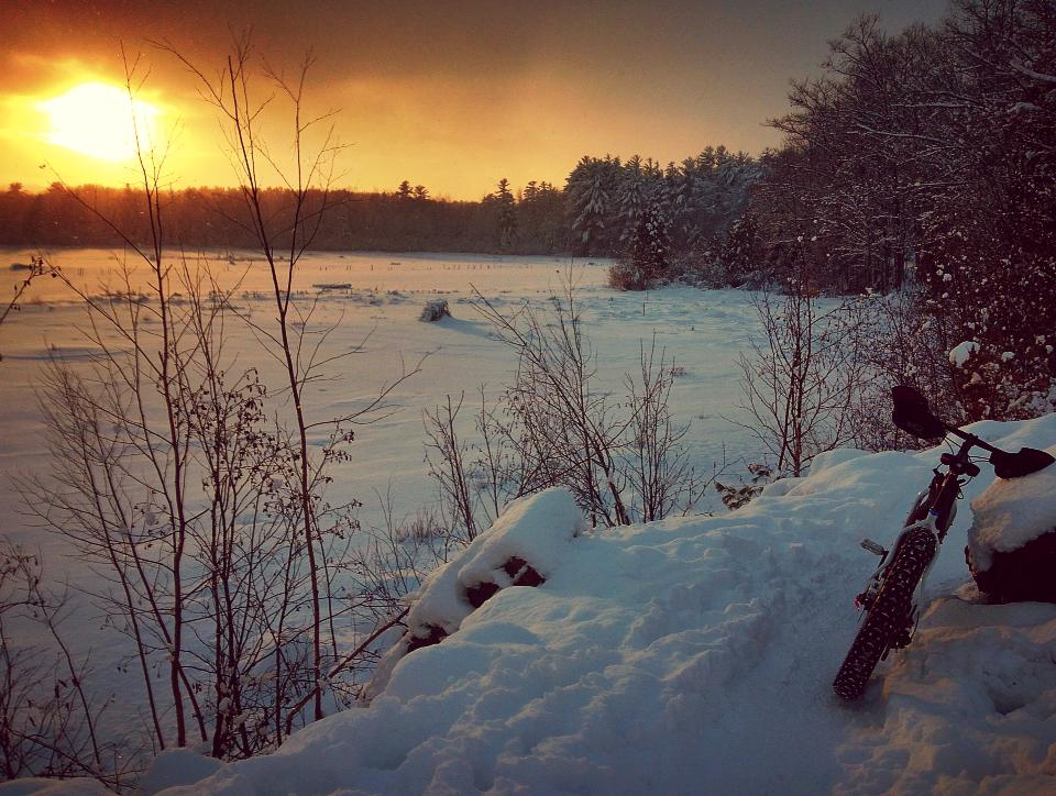 Marquette Snow bike Route. Photo: Kristian Saile