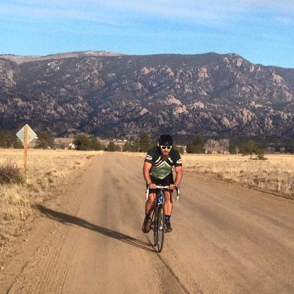 First road ride post-ACL surgery. Yup, that's dirt I'm rolling on!! Photo: Summer Heil.