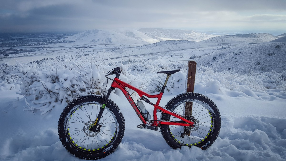 Not built to be just a bike for snow, this bike can roll over almost anything