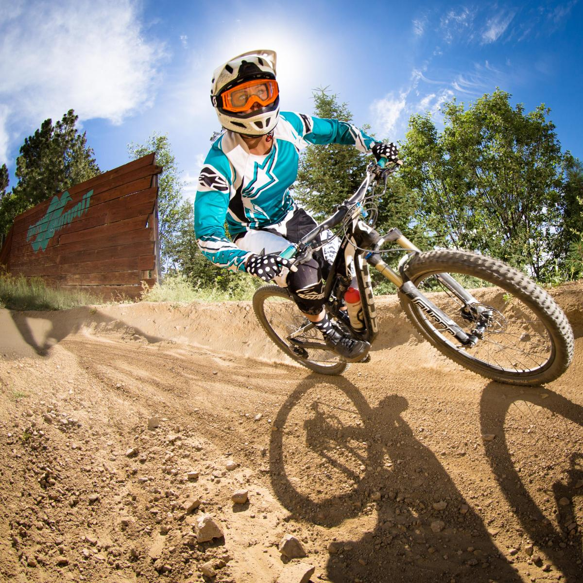 Getting the shred on at the Snow Summit Bike Park. Photo courtesy of Snow Summit Mountain Resort