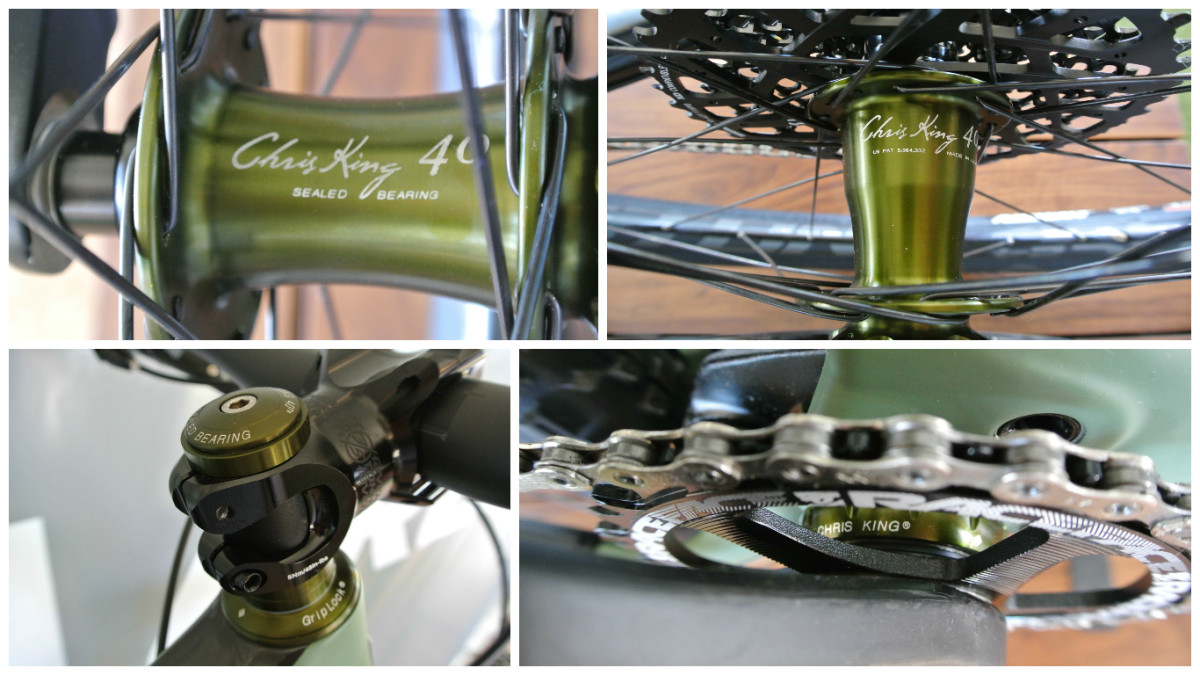 Special 40th Anniversary hubs, headset, and bottom bracket from Chris King