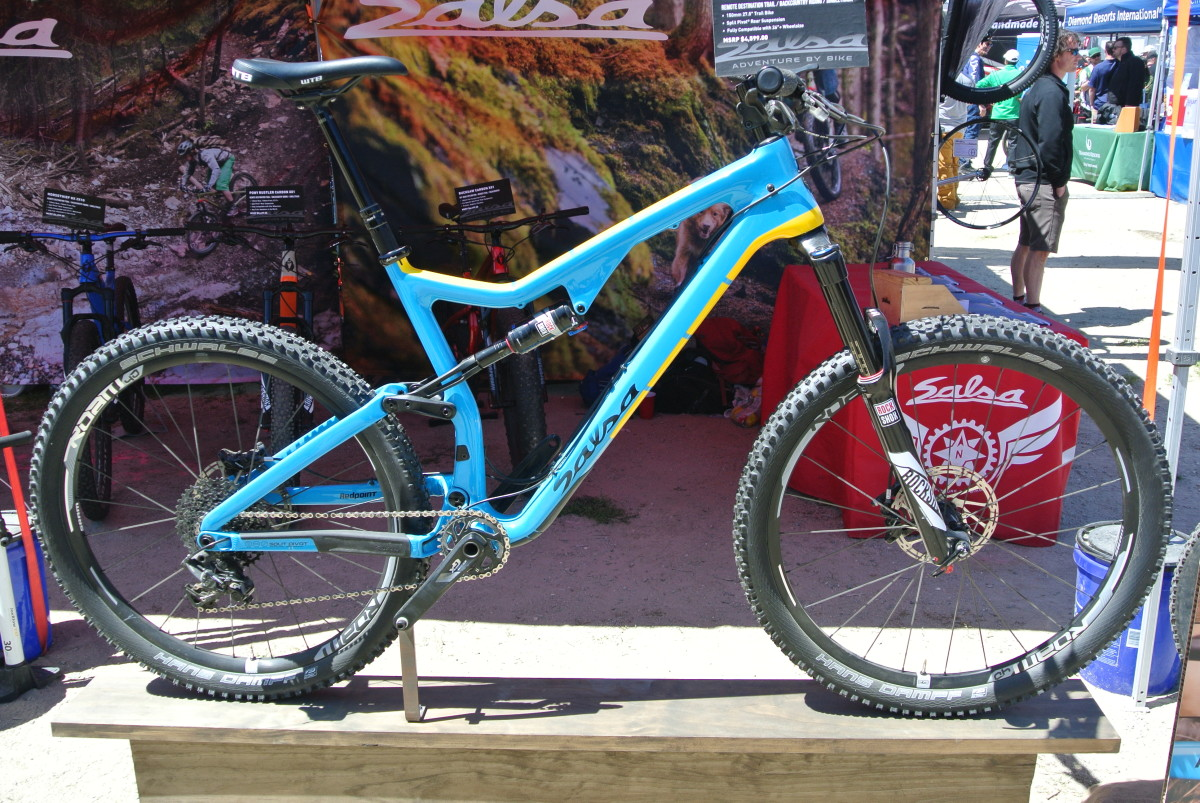 Salsa's new trail bike, the Redpoint, is a looker