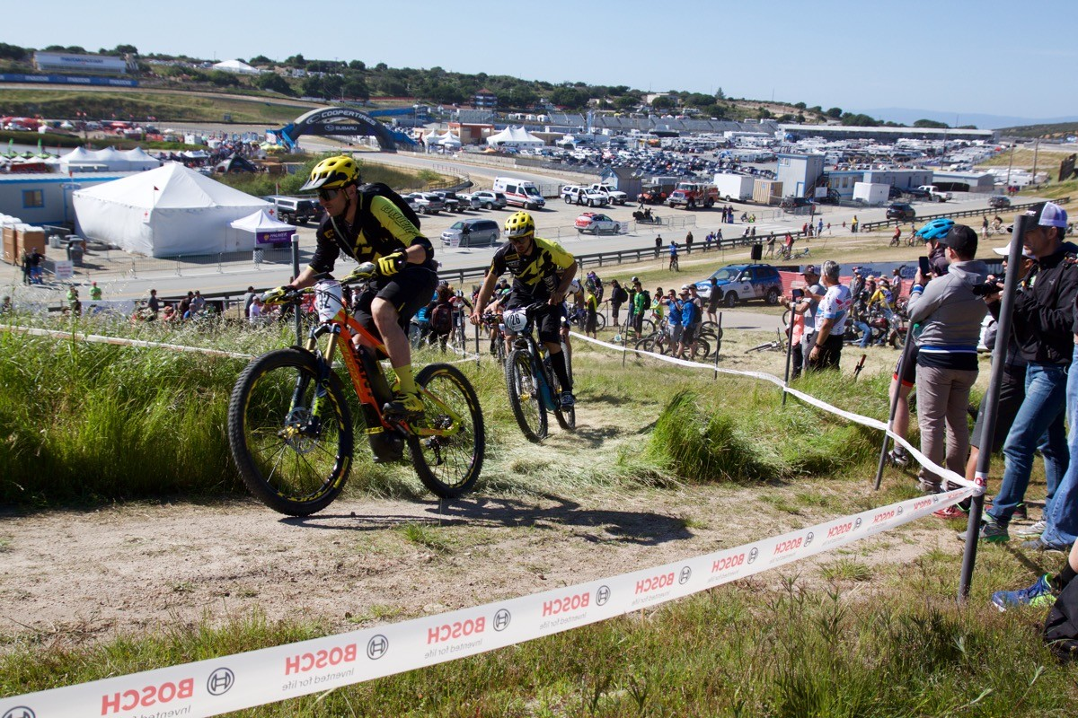 The Sea Otter Classic's first dirt bike race. Photo: Jeff