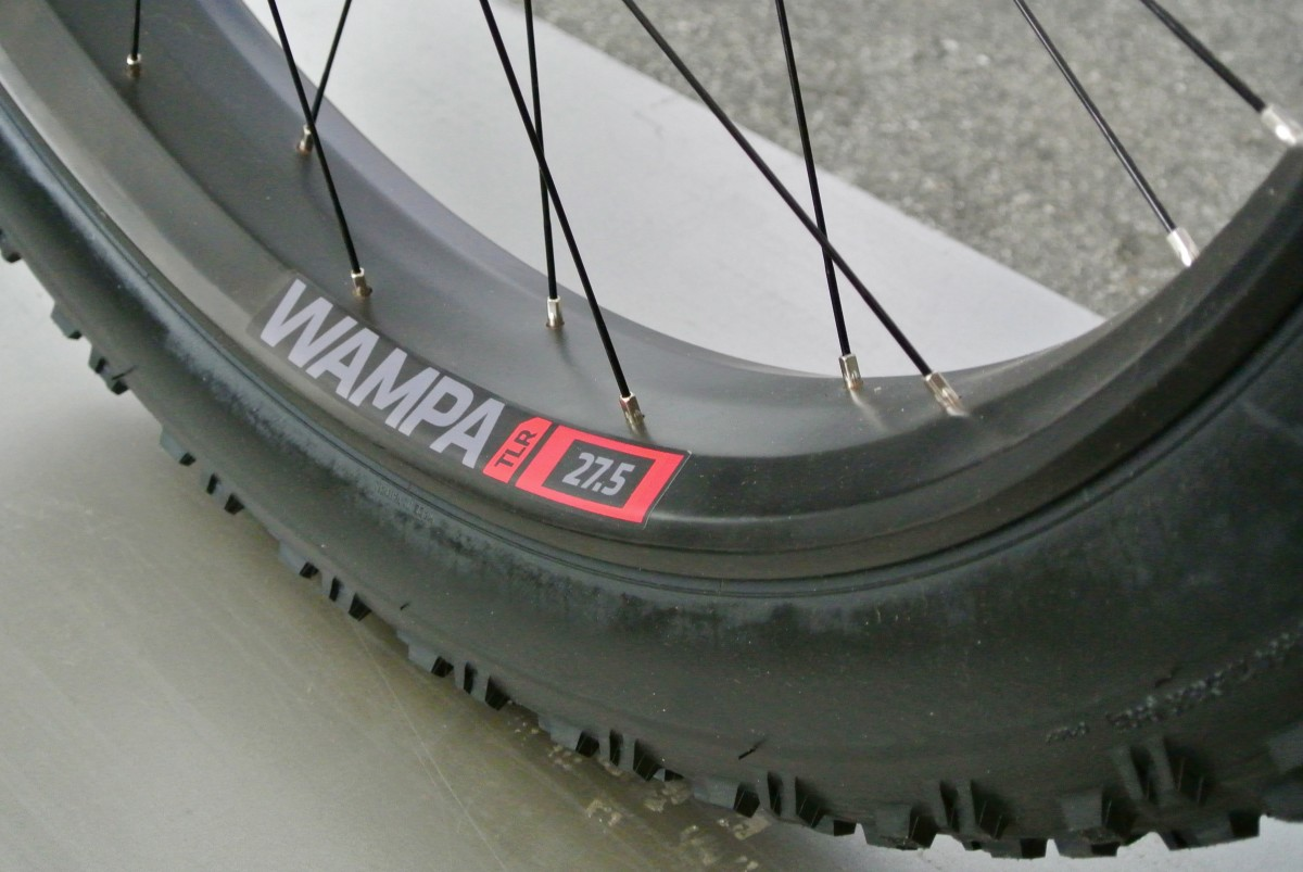Trek's new Wampa carbon wheels are specced on the 9.8