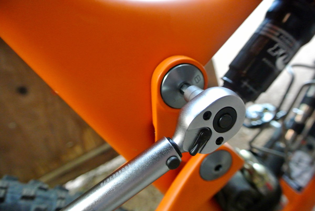 We're starting to see more companies etch torque specs directly onto pivot hardware, every bike manufacturer should do this!