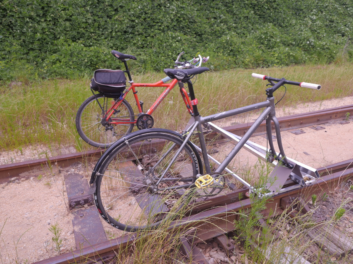 With Craig's rail bike, you and a friend can cruise along abandoned rail