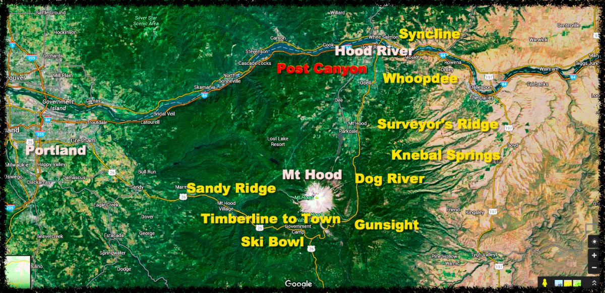 Mount Hood area trails overview