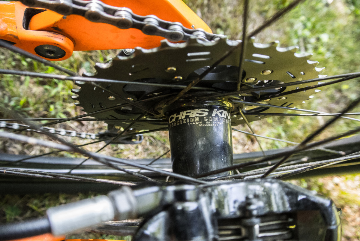 Chris King hubs and a Shimano XT cassette